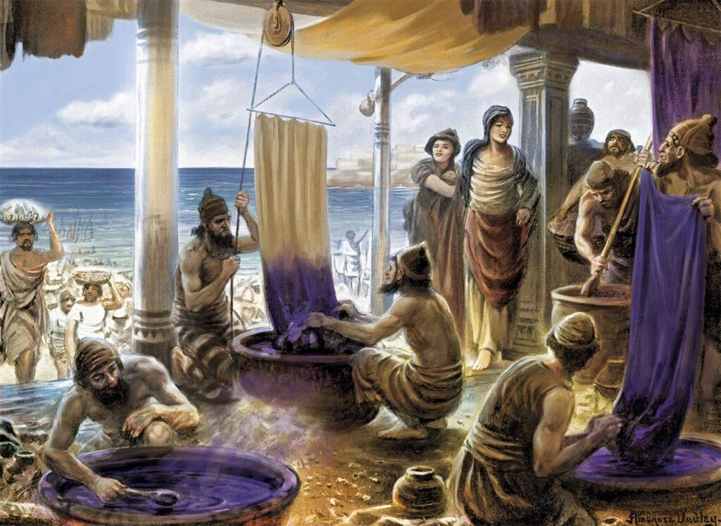 La púrpura de los fenicios era el tinte más preciado de la antigüedad