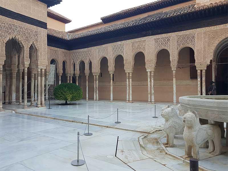 marmol de Macael en la Alhambra