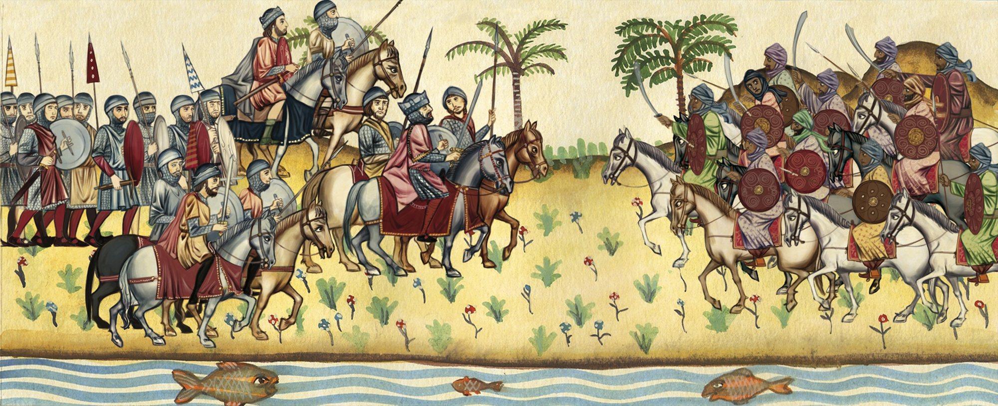 Batalla de Guadalete marca la desaparición de los visigodos y el inicio de la invasión de la Península Ibérica por parte de los musulmanes