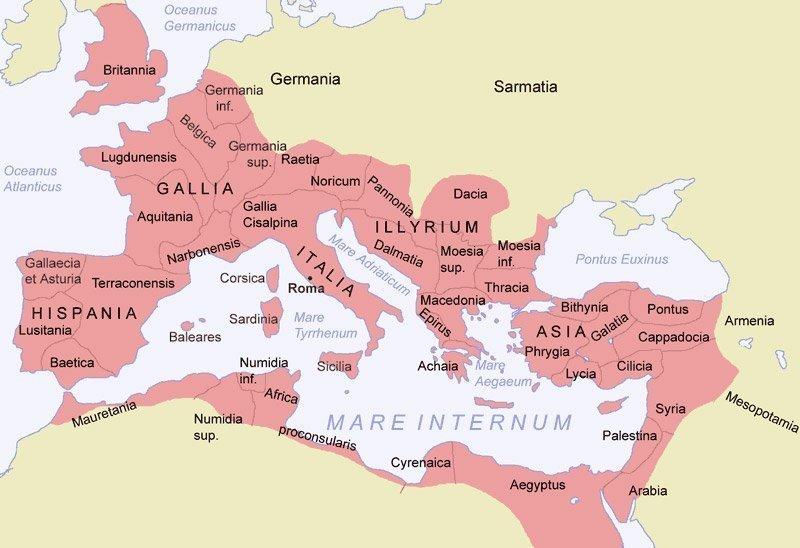 El Imperio Romano ocupó gran parte del mundo conocido en aquella época