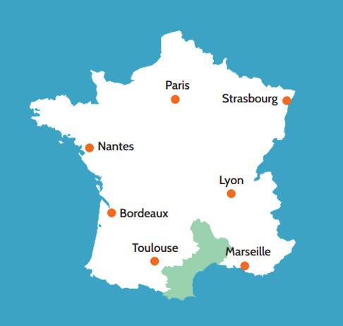 Situación de Tolosa o Toulouse, primera capital de los visigodos en la actual Francia