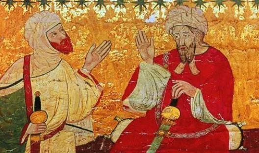 Representaciones de la Sala de los Reyes en la Alhambra. ¿Podría tratarse de Mohammed II y Mohammed III? En nuestras visitas te lo contamos