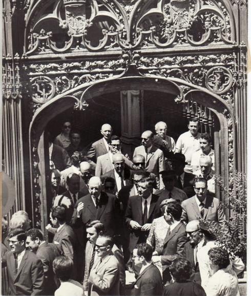 Única imagen conocida de Charles de Gaulle en Granada (que fue totalmente una visita relámpago)