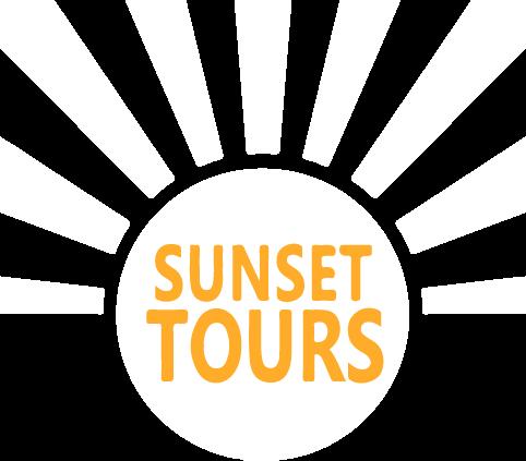 logo en negativo de la maravillosa agencia de visitas guiadas de Granada Sunset Tours